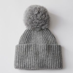 d86f850707b Acne Accessories - Acne Studios Grey Solia Pom Pom Beanie